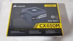 Fonte Corsair 650w Cx650m Semi Modular - 80 Plus Bronze