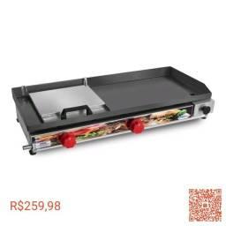 Chapeira de Lanche Sanduicheira Hot Dog Inox 70 x 30 com prensa a gas