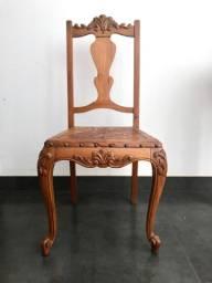 04 cadeiras Chipandelle acento em couro trabalhado