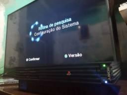 Título do anúncio: Playstation 2 Fat 39001 + jogo original