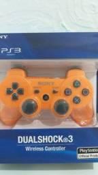 Controle Playstation 3 Sony Cor Laranja