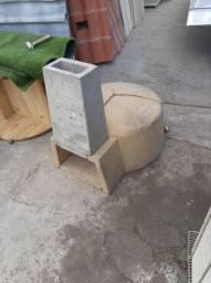 forno de concreto pré moldado estilo iglu
