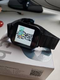 Smartwatch Colmi P8 Pulseira de Metal Preto Notificações