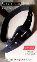 1 Cinto preto marca MARIA FILÓ 1m tamanho original semi novo