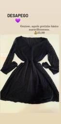 Título do anúncio: Vestido preto de renda