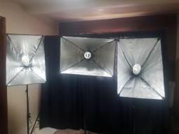 Kit Iluminação Estúdio Softbox (completíssimo)