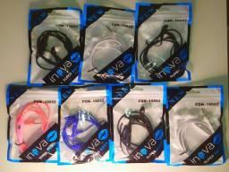 Fone de ouvido headphone Inova com microfone e várias cores Novo