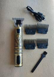 Máquina Profissional de Barbear - RECARREGÁVEL