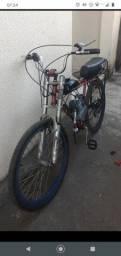 Título do anúncio: Bicicleta com motor  está ótimo