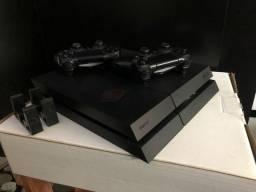 Título do anúncio: PS4 + 2 Controles + 8 Jogos