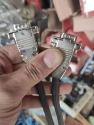 Cabos de vídeo reforçados VGA E DVI e serial