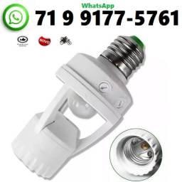 Título do anúncio: Soquete Sensor De Presença Lâmpada Bocal E27 Movimento 360º (NOVO)