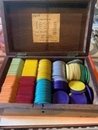 Rára maleta de fichas de poker (anos 40)