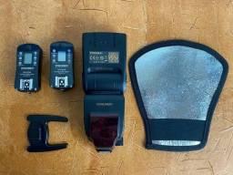 Vendo flash YN 685 Nikon com sapata e rebatedor e rádio flash 605N - R$600,00