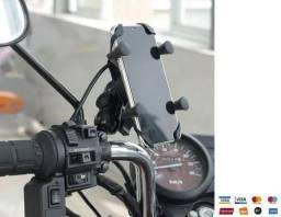 Suporte Celular Moto Com Carregador USB