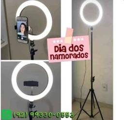 Ring Light Iluminador 10 Polegadas + Tripé 2 Metros Altura Promoção