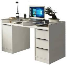 Escrivaninha branca 1 porta e 3 gavetas - USADA