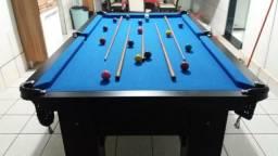 Mesa de Redes Cor Preta Tecido Azul Mod. OXQN1463