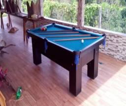 Mesa (Quatro Pés) Cor Preta Tecido Azul Mod. WHWJ2002
