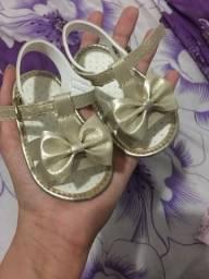 Sandália de bebê número 3 (veste n° 15)