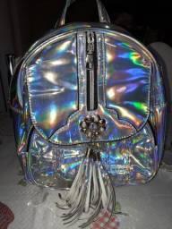 Mochila Holográfica (efeito arco-íris)