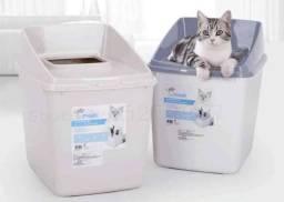 Caixa de areia com tampa para gatos