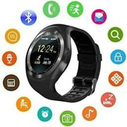 Relógio Smartwatch Y1 Touch Bluetooth Android    (toda <br> Regão dos lagos