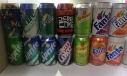 Lote Coleção De Latas Refrigerantes Da Coca Anos 90