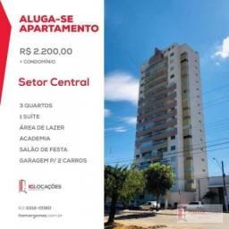 Apartamento com 3 dormitórios para alugar por R$ 2.200/mês - Setor Central - Gurupi/TO