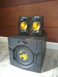 Subwoofer e caixa som gaming Genius 2.1 para receiver