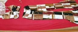 Conjunto de cropped calça flare cintura alta