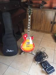 Guitarra Les Paul + Pedaleira Zoom G2.1 Nu (Kit Completo)