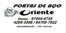 Portas de aço Oriente fabricação e manutenção  9.7454,,4734