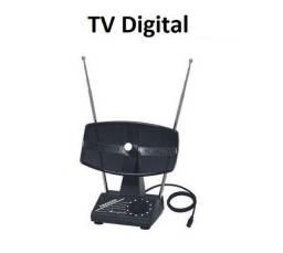 Antena Tv Digital Interna Thevear Modelo Amapola Uhf Vhf Fm 367-A Impecável Novinha!