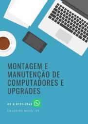 Montagem, manutenção e upgrades de computadores e afins