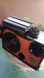 Caixa de som c/ módulo e corneta