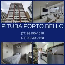 Pituba Porto Bello, 3 quartos, 1 suíte, armários,97m² em Loteamento Aquarius