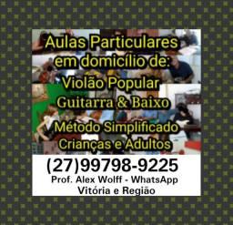 (27)99798.9225 ZAP Aulas Práticas de Violão Guitarra Vitória ES
