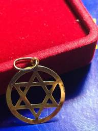 Pingente ouro 18 K - Estrela de Davi