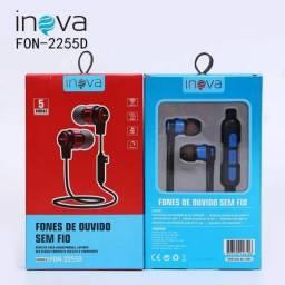 Fone De Ouvido Estéreo Bluetooth Com Microfone Inova !!