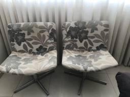Kit 2 Cadeiras Decorativas Poltronas Giratórias