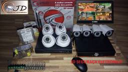 Kit Câmeras segurança completo + gravaçao 24hs + Aplicativo acesso no seu celular Grátis