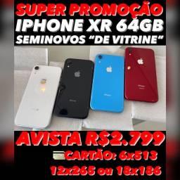 IPHONE XR 64GB SEMINOVO, ACEITAMOS SEU IPHONE USADO COMO PARTE DO PAGAMENTO.