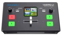 Título do anúncio: Mesa de Corte FeelWorld Livepro L1 Switcher de Vídeo HDMI 4 Câmeras Multiview
