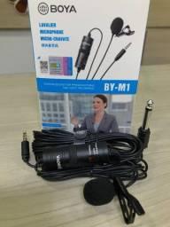Microfone lapela boya BY-M1 condensador para celular e cameras