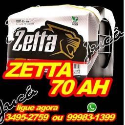 ZETtA Bateria 70ah em até 10x sem juros