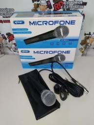 MICROFONE COM CABO VOCAL PROFISSIONAL