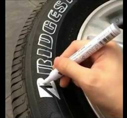 Caneta pinta pneu moto ou carro