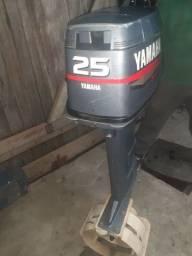 Título do anúncio: Yamaha 25 hp troco por 15 mais volta