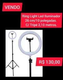 Ring Light Led Iluminador 26cm /10 Polegadas Com tripé de  2 metros e 10 centímetros